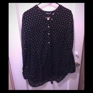 Black & White Linen Tunic - Sz XL